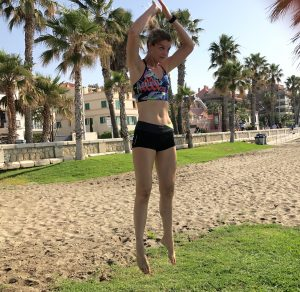 Workout op het strand