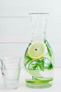 Water met munt en citroen