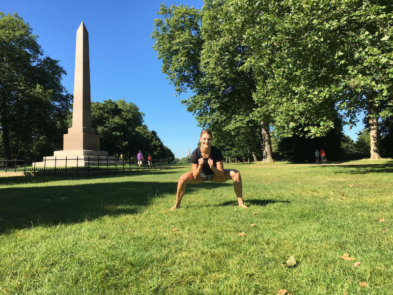 Travel WOD Londen_squat